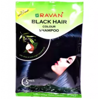 Ravan Black Hair Colour Shampoo